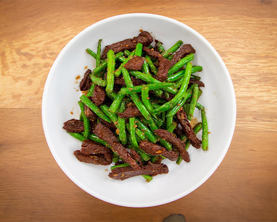 BEFFLESS GARLIC GREEN BEANS